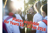 Places available for Y10-13 for 2016