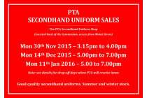 CGHS PTA Secondhand Uniform Sales Information